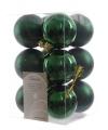 Kerstballen mix donkergroen 12 stuks