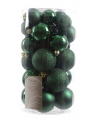 Kerstballen mix donkergroen 30 stuks