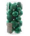 Kerstballen mix groen 30 stuks