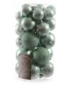 Kerstballen mix mint groen 30 stuks