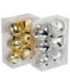 Kerstbellen hangers goud 4 cm 6 stuks