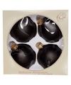 Kerstboom decoratie kerstballen zwart mat 4 stuks van glas