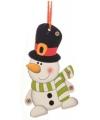 Kerstboom decoratie sneeuwpop 12 cm