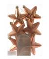 Kerstboom hangers koper sterren 6x