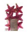 Kerstboom hangers roze sterren 6x