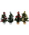 Kerstboom met decoratie zilver 30 cm