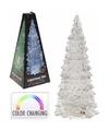 Kerstboom transparant met led licht 27 cm