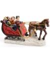 Kerstdorp figuurtjes slee met paard