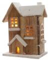 Kerstdorp houten cottage