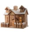 Kerstdorp houten huis 27 cm