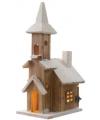 Kerstdorp houten kerk