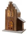 Kerstdorp houten trapgevel huis