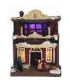 Kerstdorp maken kersthuisje met led licht type 3