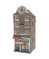 Kerstdorp maken led huisje barokgevel grachtenpand 16 cm