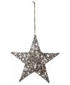 Kersthanger houten ster 40 cm