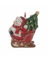 Kersthanger sneeuwpop in slee 8 cm