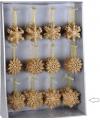 Kersthanger sneeuwvlok goud glitter type 3