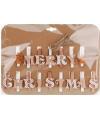 Kerstkaart knijpers koper met wit