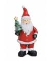 Kerstman beeldje met kerstboom 9 cm