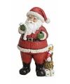Kerstman beeldje met naamlijstje 19 cm