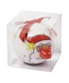 Kerstman kerstbal met led lampje