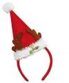 Kerstmuts diadeem gewei voor volwassenen