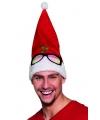 Kerstmuts met bril opdruk