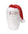 Kerstmuts met snor en baard