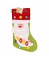 Kerstsok met 3d kerstman 50 cm