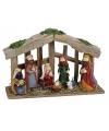 Kerststal met 8 figuren