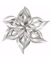 Kerstster knutsel set zilver