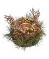 Kerststukje goud 25 cm