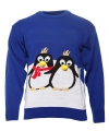 Kersttrui met 2 pinguins voor kinderen