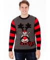 Kersttrui rudy reindeer voor heren