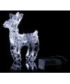 Kerstverlichting mini rendier wit 16 led
