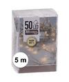 Kerstverlichting op batterij warm wit 50 lampjes