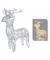 Kerstverlichting rendier op led lampjes 45 cm