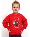 Kinder kersttrui rood met rendier
