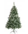 Kunst kerstboom abies 120 cm witte punten