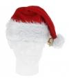 Luxe pluche kerstmuts met bel