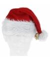 Luxe toppers kerst thema muts met kerstbelletje
