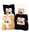 Luxe vacht deken zwart 200 cm