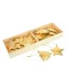 Metalen gouden kersthangers 5 cm