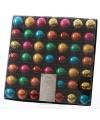 Mini kerstballen gekleurd 49 stuks 3 cm