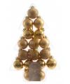 Mini kerstballen goud 17 stuks 3 cm