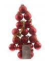 Mini kerstballen rood 17 stuks 3 cm