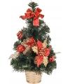 Mini kerstboom met rode decoratie 40 cm