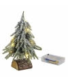 Mini kerstboompje met lichtjes 20 cm