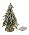 Mini kerstboompje met lichtjes 26 cm