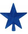 Piek ster blauw met glitters 19 cm